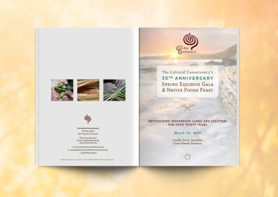 Cultural Conservancy 30 Year Gala Event Program