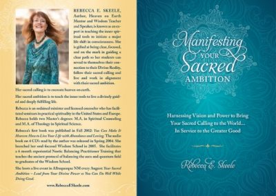 Sacred Ambition Book Cover & Interior Design & Production