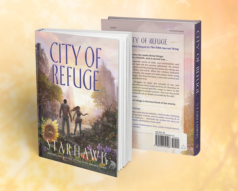 Bookcover and interior layout. City of Refuge by Starhawk