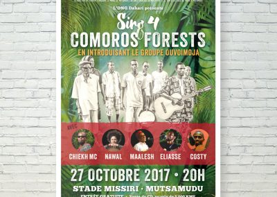 Sing 4 Comoros Event Poster